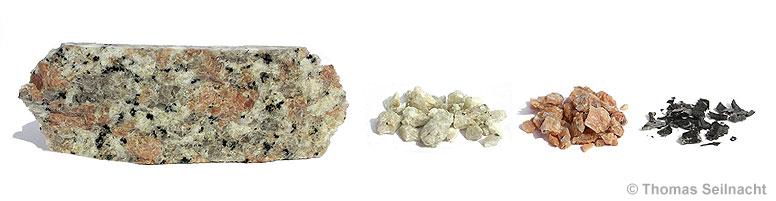 Granit Bestandteile entstehung mineralien und gesteinen